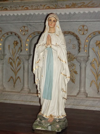 Une statue de l 39 glise de belcourt rapatri e en ari ge for Statue vierge marie pour exterieur